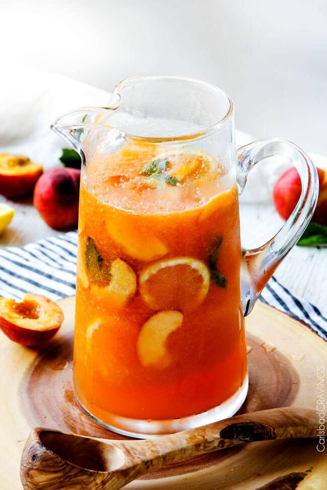 Sparkling Peach Punch by Carlsbad Cravings