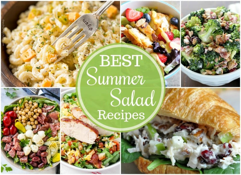 Say hello to summer with 19+ of the BEST Summer Salad Recipes! From sweet and savory, these are my favorite salad recipes for the summertime!