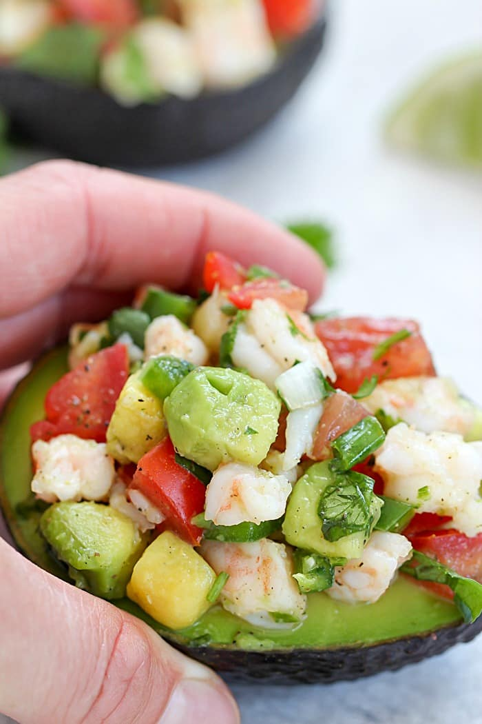 Must-try Quick & Easy Avocado Shrimp Ceviche Recipe! This is so delicious!