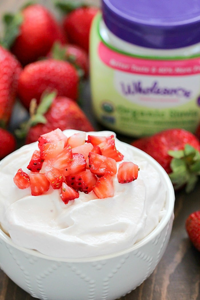 Strawberry Cheesecake Dip Recipe is a healthier fruit dip you will love!