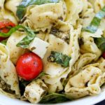 This Easy Tortellini Pesto Salad is the perfect side dish for a summer BBQ!