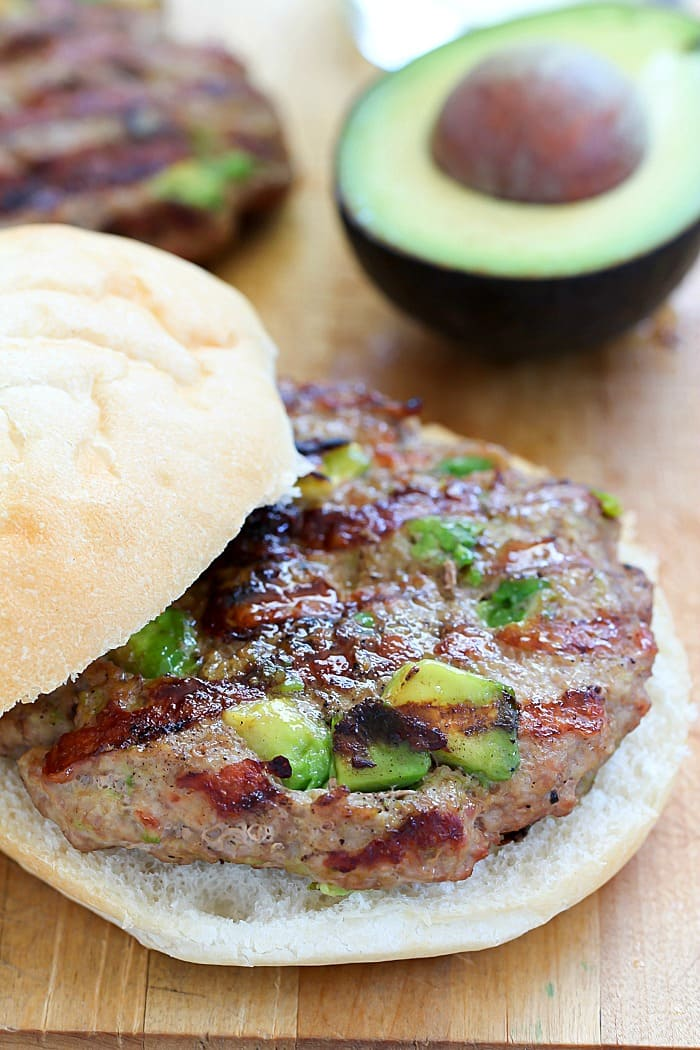 Incredibly juicy and delicious Turkey Avocado Burgers! Only a few ingredients to the best turkey burgers you've ever had!