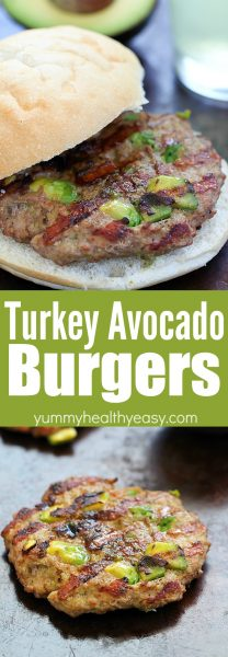 These Easy Turkey Avocado Burgers will be your new favorite turkey burger recipe!