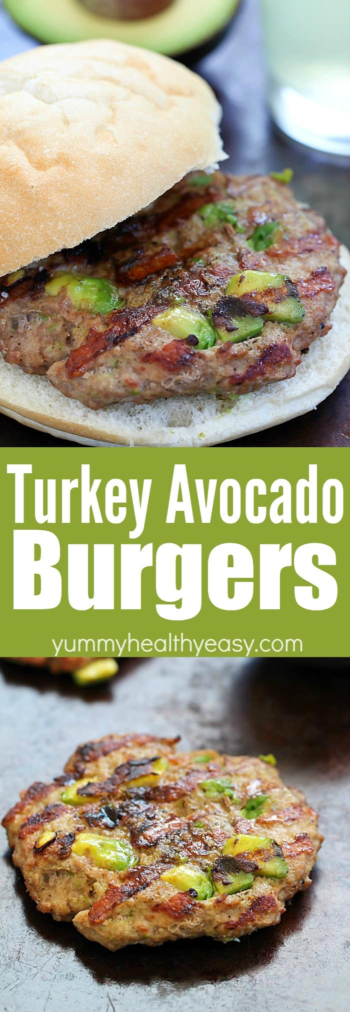 These Easy Turkey Avocado Burgers will be your new favorite turkey burger recipe! Only a few easy ingredients for an incredibly juicy burger you will love! AD