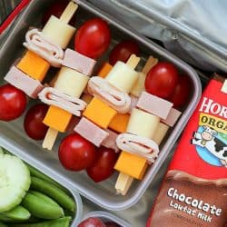 Cheese & Turkey Kebabs – a fun lunchbox idea!