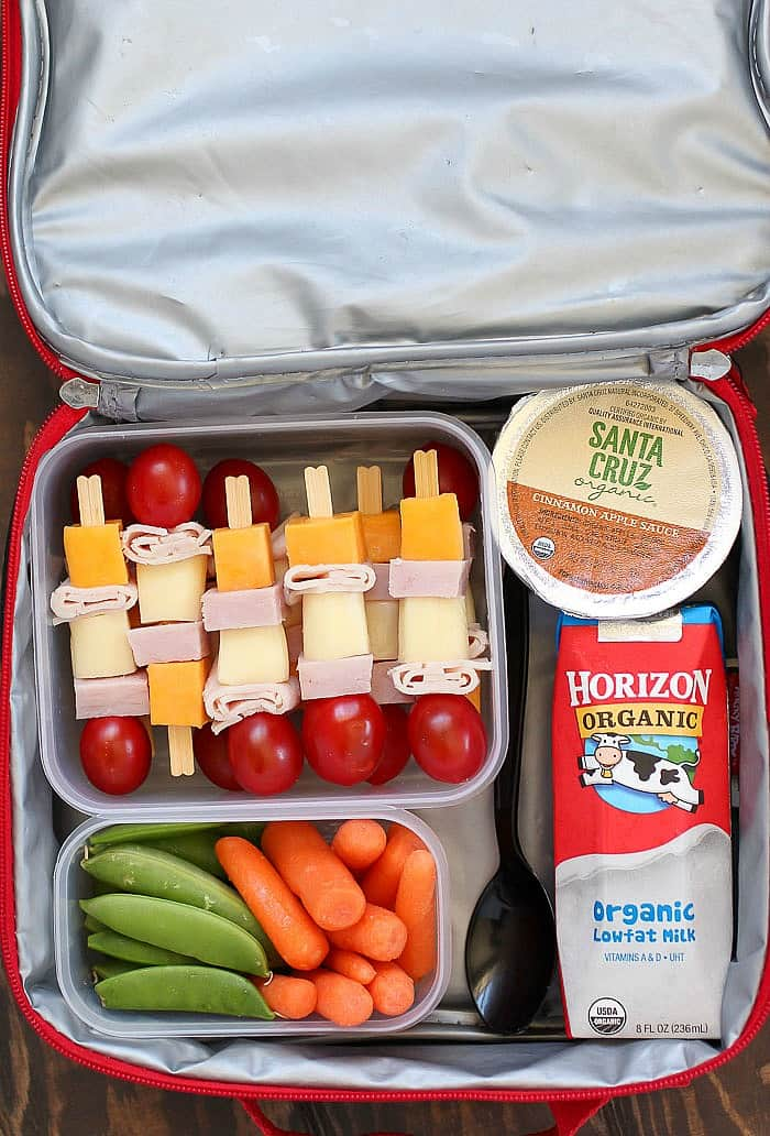 Cheese & Turkey Kebabs are a fun lunchbox idea everyone will love!