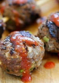 These easy Italian Meatballs are skewered and then grilled. Easy, flavorful and versatile dish!