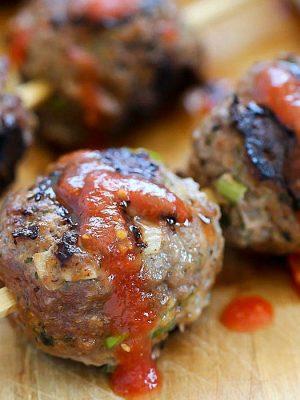 Skewered Italian Meatballs