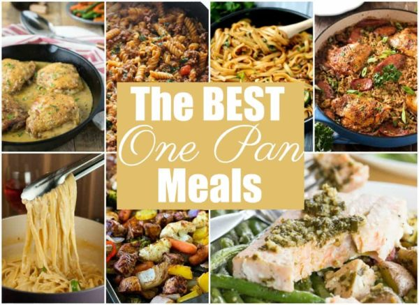 Need a quick & easy dinner idea? Check out these BEST EVER One Pan easy meals!