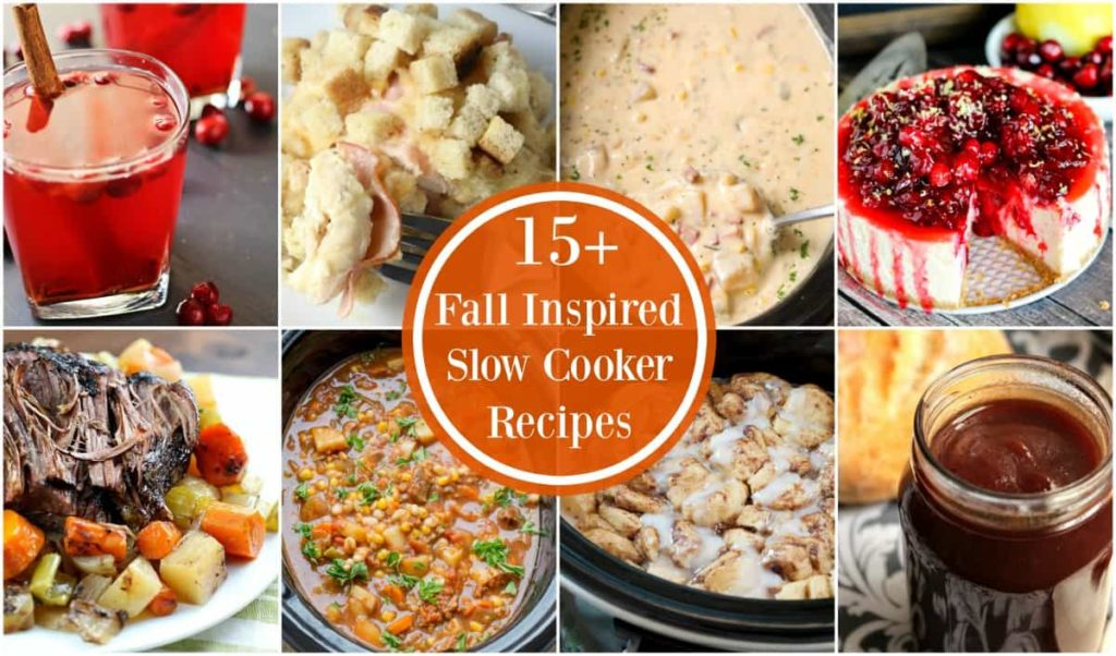 These 15+ Fall Slow Cooker Recipes will get you in the mood for all things fall! You will LOVE these crock pot recipes - from drinks to desserts, I've got you covered with over 15 delicious recipes all in one spot!