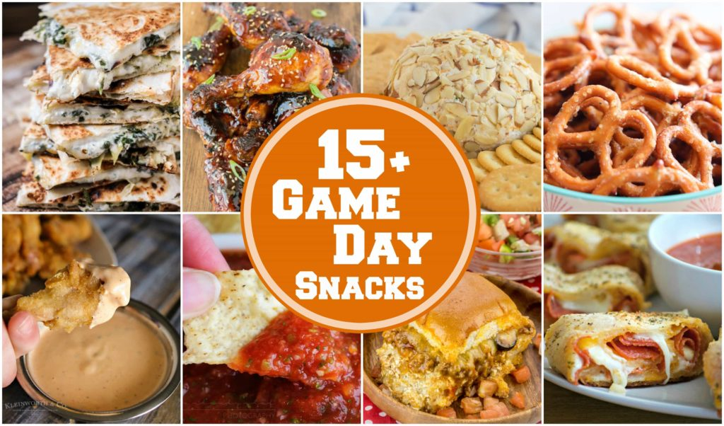 15+ of the best EVER game day snacks that are perfect to make up while watching that awesome football game on TV!