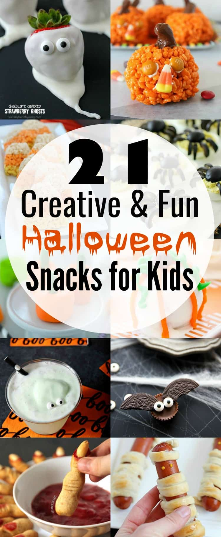 Your little ghouls will love these 21 insanely adorable Halloween snacks that are kid-tested and approved! Any of these easy creations will be the hit of the Halloween party! via @jennikolaus