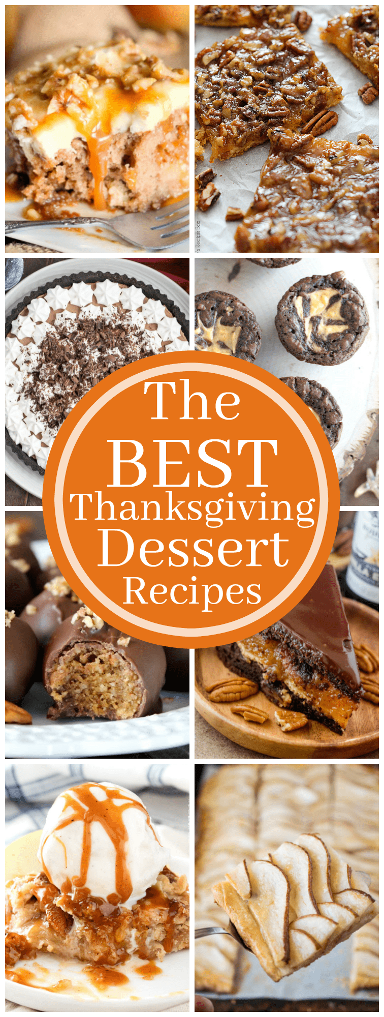 Looking for a unique Thanksgiving dessert recipe? You won't want to miss this roundup of over 15 of the BEST Thanksgiving Desserts! Even if Thanksgiving has already passed, this roundup is full of some great year-round dessert recipes!