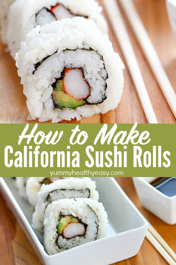 Who knew that making California Sushi Rolls at home was easy? Ditch the sushi restaurant and make your own California Rolls in the convenience of your own home! #sushirolls #sushirecipe #avocado #diysushirolls via @jennikolaus