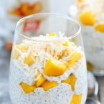 You won't want to miss this super easy recipe (only 4 ingredients!) for Peaches and Cream Protein Chia Pudding! Filled with healthy chia seeds, fruit and protein.