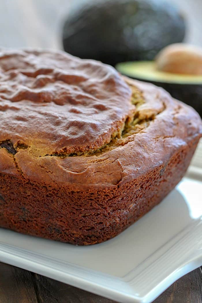 Have you ever added avocado in your banana bread? It makes it so soft and you can't taste the avocado! This is one of my favorite quick bread recipes!