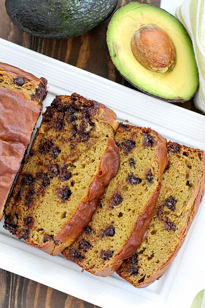 Adding avocados into this Chocolate Chip Banana Avocado Bread makes it extra moist and delicious! I promise you can't tell theres avocado in it! :)