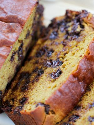 This Healthy Banana Avocado Bread is flavorful and moist!