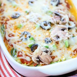 Zoodle Pizza Casserole Recipe + Cookbook Giveaway!
