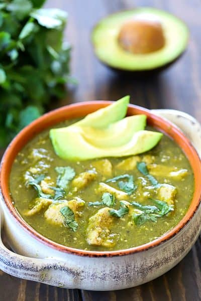 You will LOVE the flavor in this Pork Chili Verde! Pork loin is simmered until super tender and then added to a delicious homemade verde sauce - SO good! Plus a recap of my pork tour in Michigan! #AD