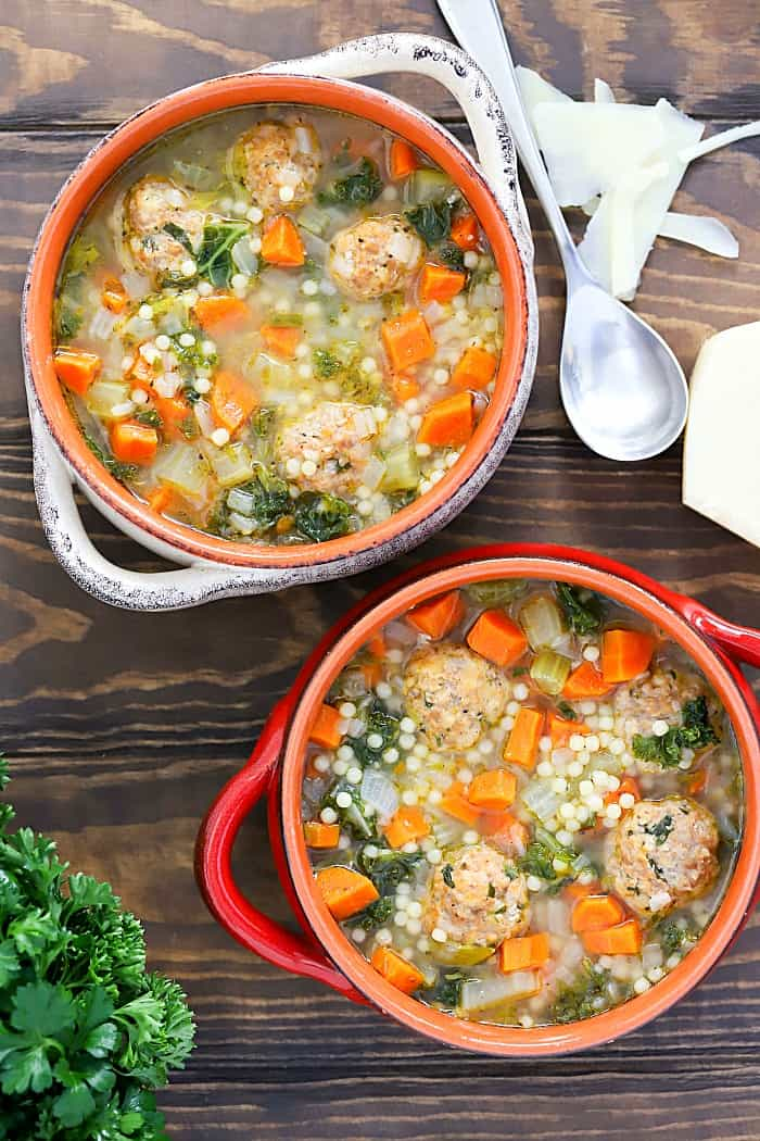 Our family favorite Italian Wedding Soup Recipe! It's a classic comfort food recipe the whole family loves!