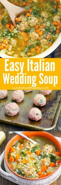 Get ready for the BEST soup you've ever had! This Italian Wedding Soup Recipe is where it's at! Easy to make and tastes incredible!