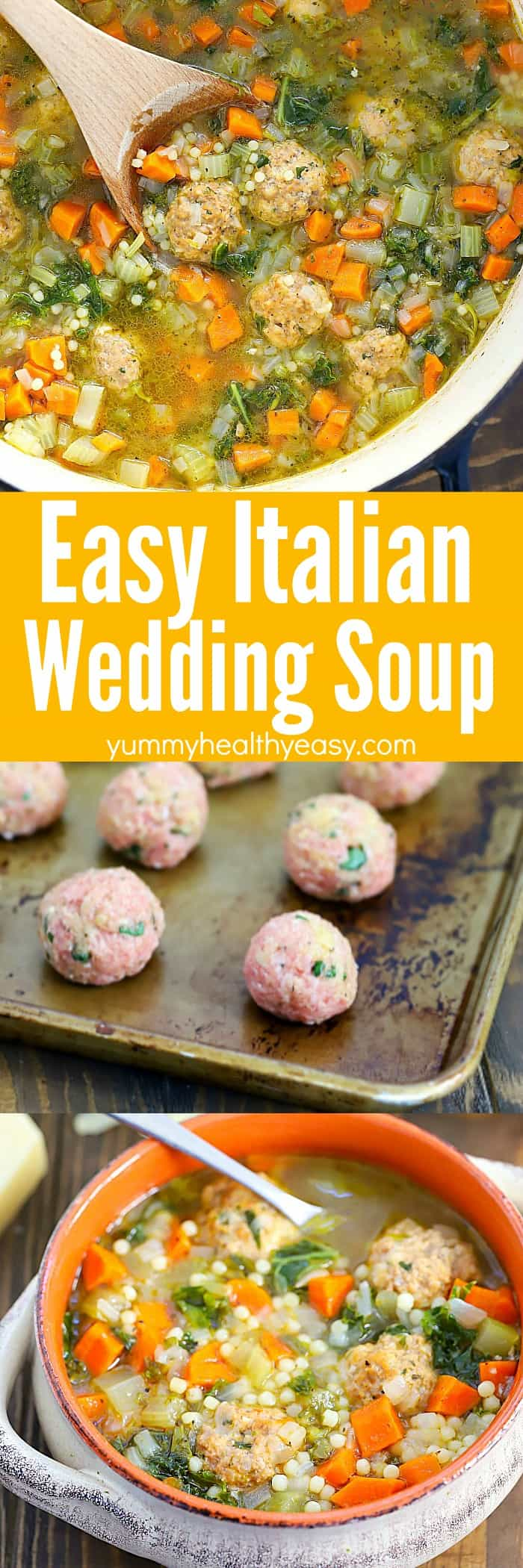 Looking for a yummy soup recipe that's easy to make? this Italian Wedding Soup Recipe is the one you need! It's a one-pot, healthy, filling, delicious soup that's so easy - anyone can make it! 