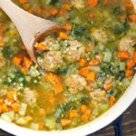 We can't get enough of this Italian Wedding Soup Recipe! It's quick, easy and absolutely delicious!