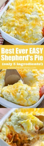 The easiest dinner idea - Easy Shepherd's Pie Recipe! This is such an easy and delicious casserole recipe the whole family will love!