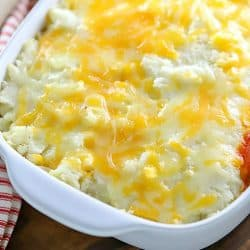 My family loves this Easy Shepherd's Pie Recipe! Only 5 ingredients needed and cooks in under 30 minutes!