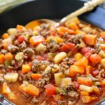 This Easy Vegetable Beef Soup Recipe is full of flavor and light on ingredients! You will love how easy it is to make! AD