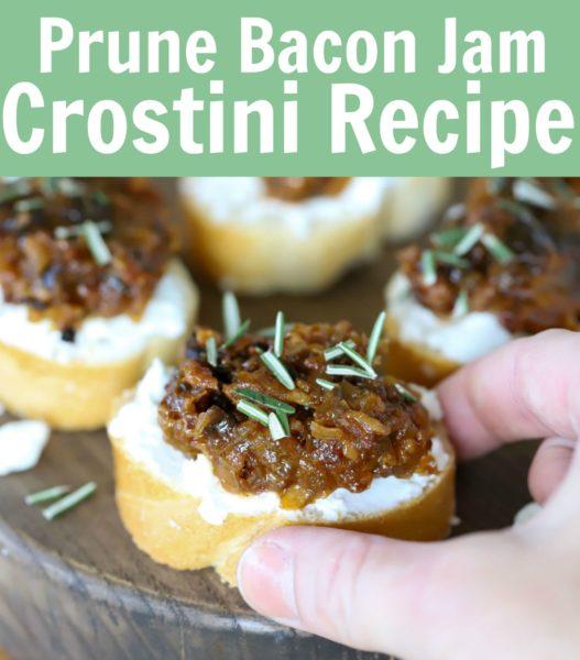Receita de Crostini de ameixa com bacon 4