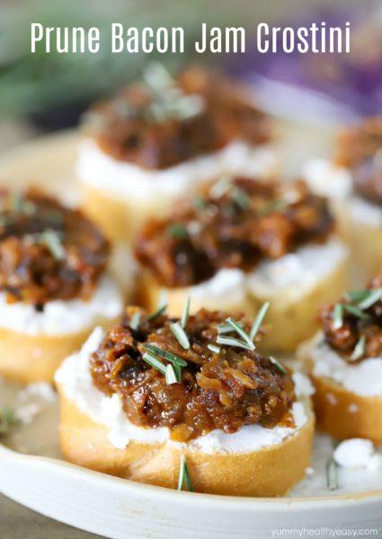 Prune Bacon Jam Crostini Recipe