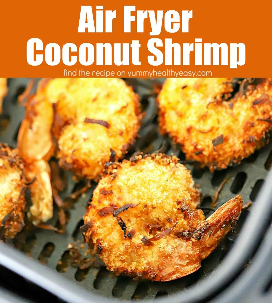 Precisa de um aperitivo divertido e mais saudável?  Faça esta receita de camarão de coco com fritadeira de ar!  É uma receita fácil que é preparada na frigideira de ar - não é óleo - então economiza calorias, mas ainda tem um gosto absolutamente incrível!  É tão fácil de fazer!  #airfryer #shrimp #coconutshrimp #appetizer #yummyfood #yummyhealthyeasy #healthyrecipes #deliciousrecipes #easyrecipe #funtomake #recipe via @jennikolaus
