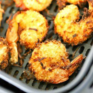 Receita de camarão de coco com fritadeira de ar 2