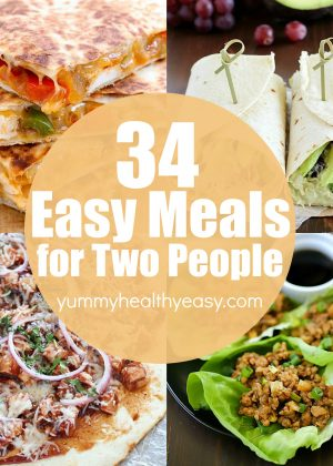 34 Easy Meals for Two People Collage